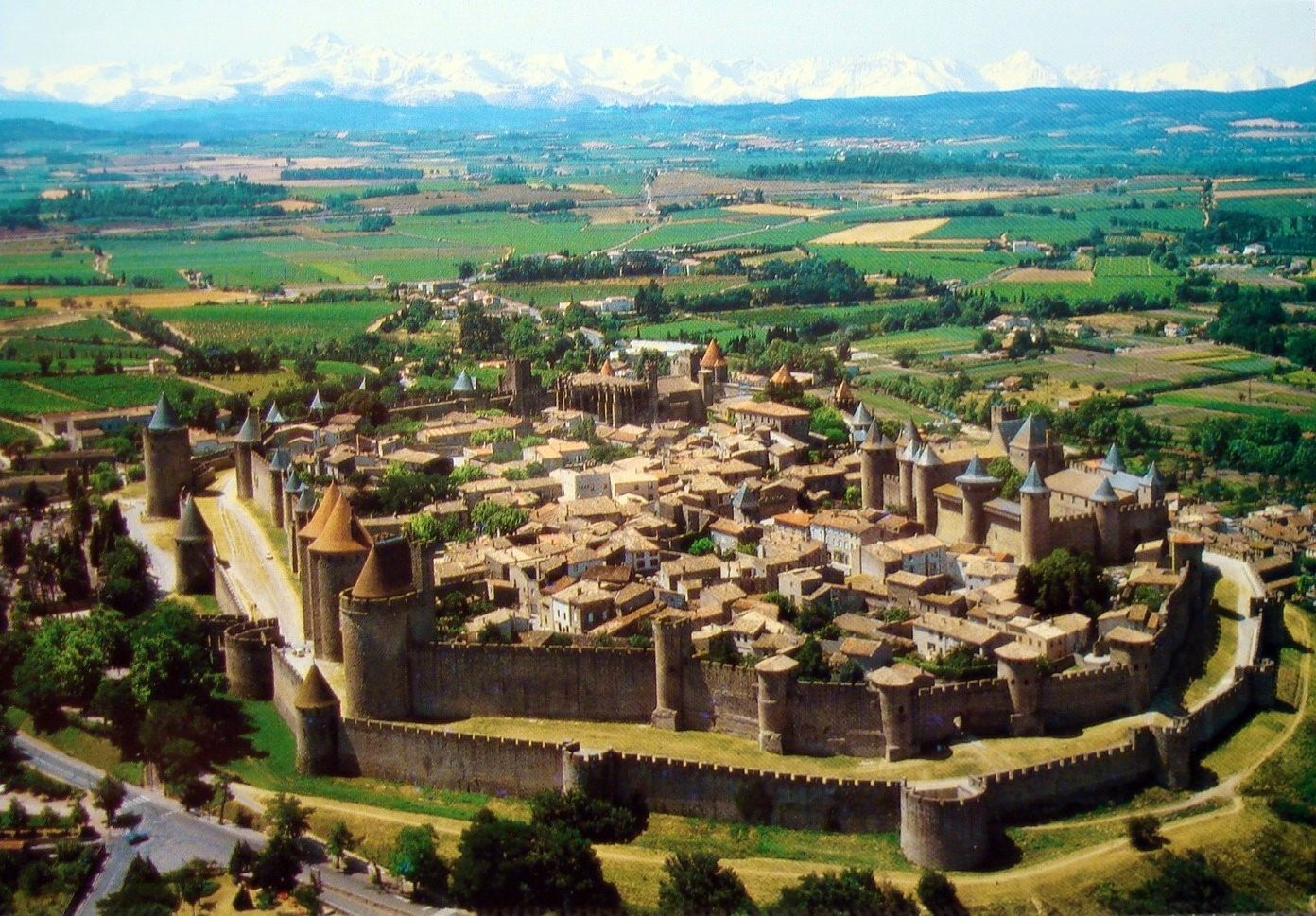 Carcassonne Arial View